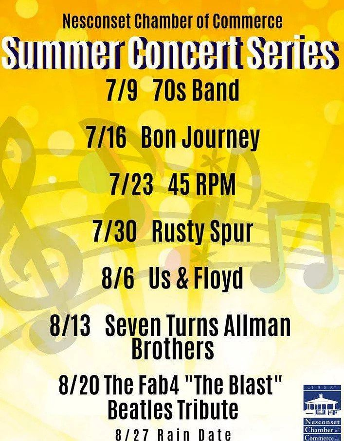 nesconset summer concert series 2019