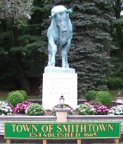 Statue of bull Town of Smithtown Established 1665